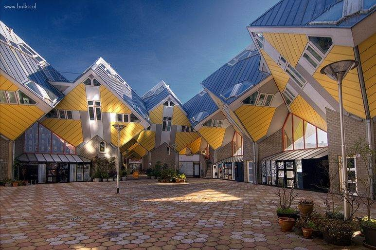 Rotterdam cubic houses curious funny photos pictures - The cubic home ...