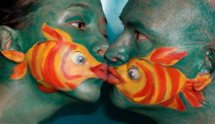 Not a French Kiss But a Fish Kiss