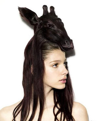 Creative hairstyle model