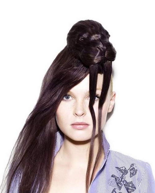 creative hair design curious