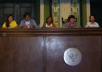 Da esquerda para a direita: Lívia borges, Argemiro Garcia, Teresa Cristina, Vânia Galvão e Jaílza Rosa