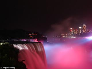 Niagara at night - Click to enlarge