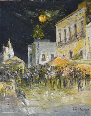 Antonio baldassarre pittore scultore viviruffano - Notte bianca specchia ...