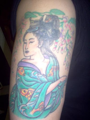 Geisha Tattoo on arm · Japanese Tattoo, Japanese Tattoo Design,