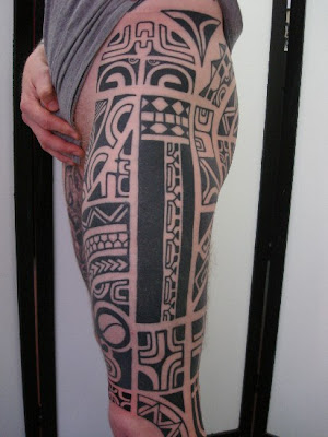 Labels: Polynesian Thigh Tattoo Art