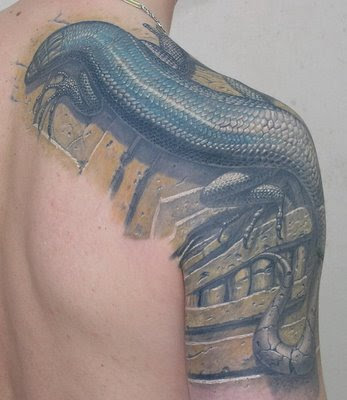 Style with Your Lizards Tattoo · tribal lizards tattoo
