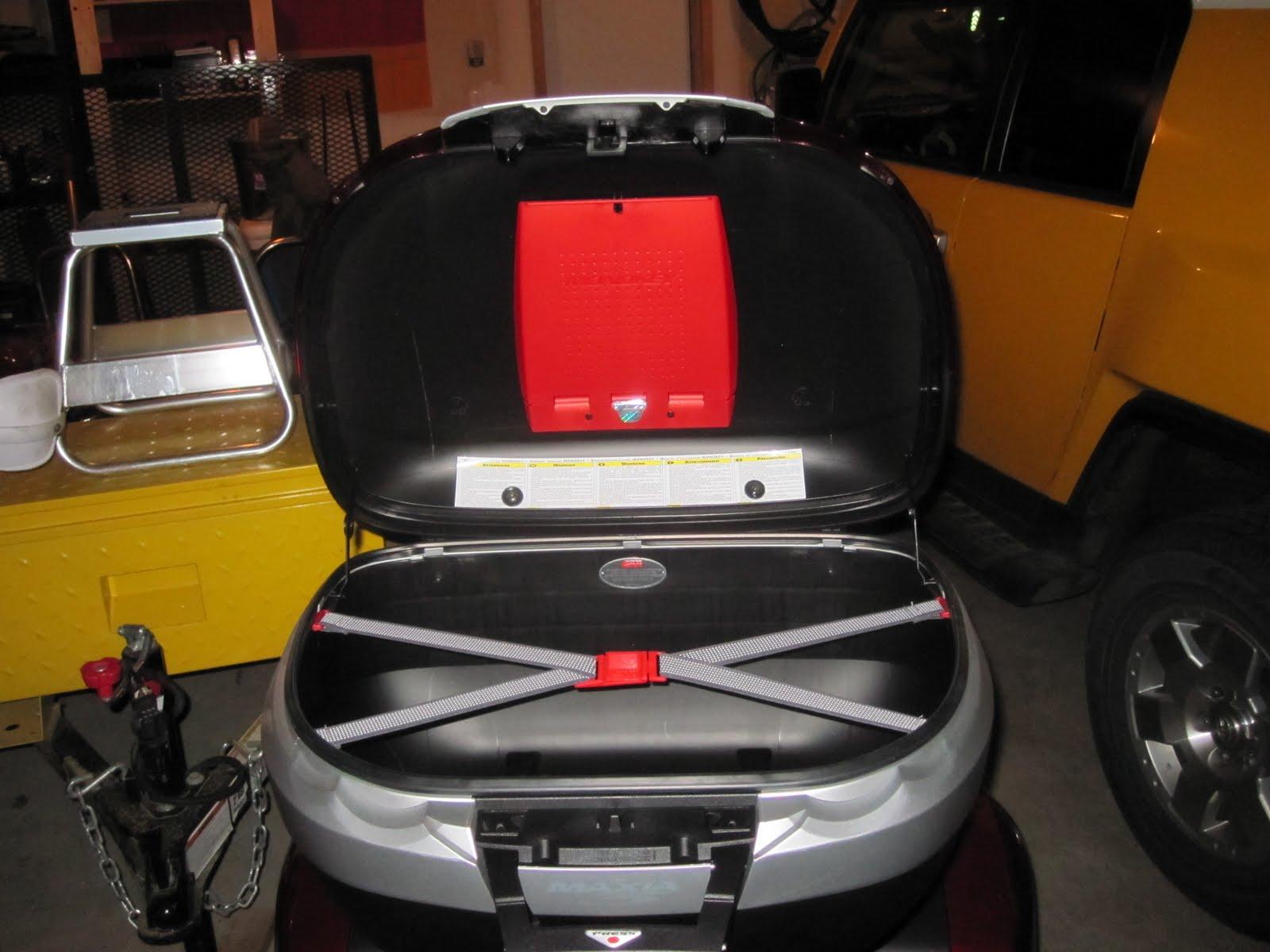 Honda Vfr1200f Weblog  Givi E55 Maxia Topcase