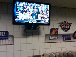 One of multiple set ups for HD in Suns Training Room.
