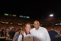 Bill with Client Charles Barkley on the sideline