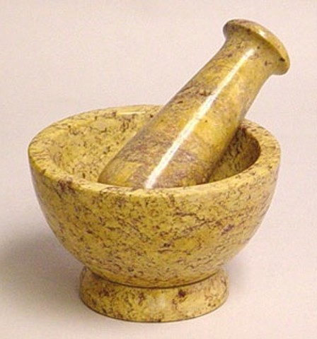 Creative studies mortar pastel Motor pestle