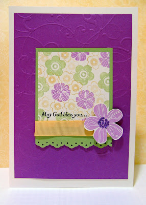 rubber stamping birthday card idea using Eastern Blooms