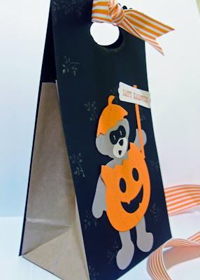 side view Build-A-Bear Halloween gift bag