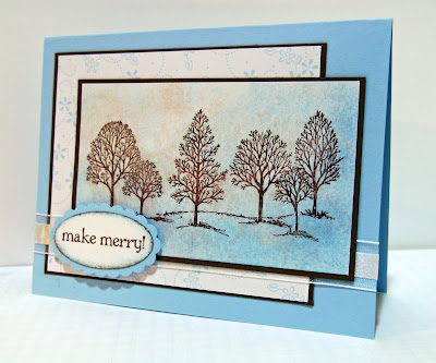 Lovely As a Tree stamped card