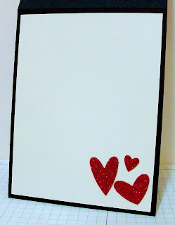 Heart to Heart punch and glimmer paper