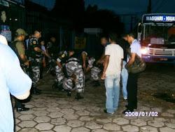 A patronal mandando a ROTAM reprimir nossa greve em 2009