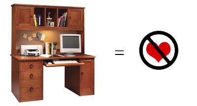 computer desk no love Modernas mesas