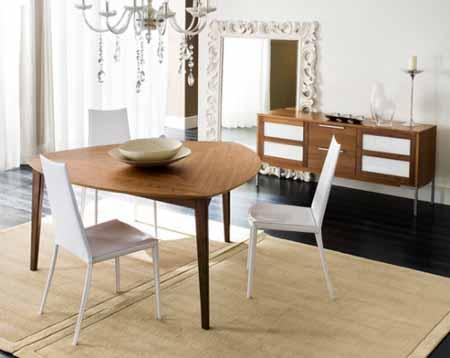 The home populars: mesas de comedor triangulares
