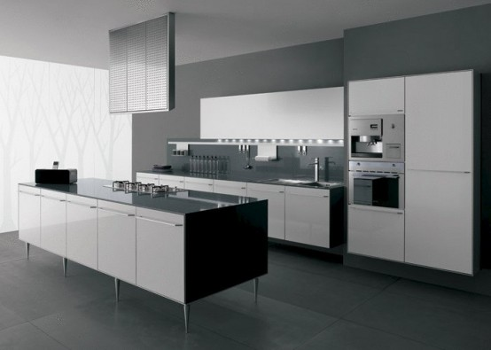 Ideas de dise o de cocinas en blanco y negro luxury for Cocinas en blanco y negro