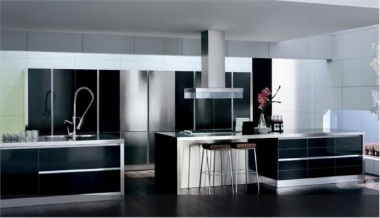 Home Decoration: Ideas de diseño de cocinas en blanco y negro