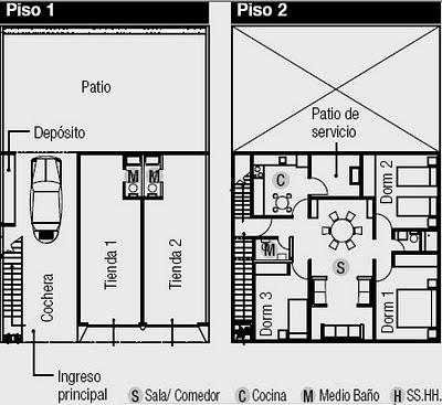 Planos De Casa Tienda Vivienda En El Segundo Piso Y
