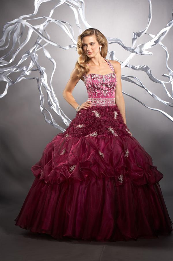 89049f1ab Vestidos galeria  Vestido de fiesta de 15 años de color fucsia