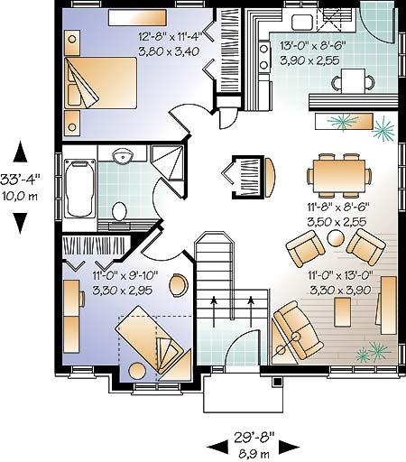planos de casas 56 metros cuadrados