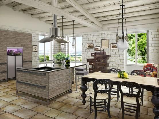 The Home Populars: Cocinas contemporáneas con diseños rústicos ...