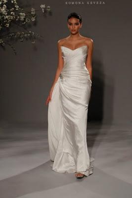 Vestido de novia clásico pegado