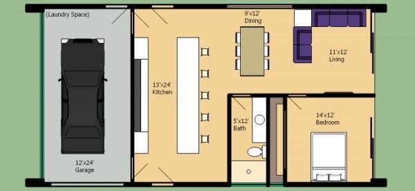 plano de casa moderna de un