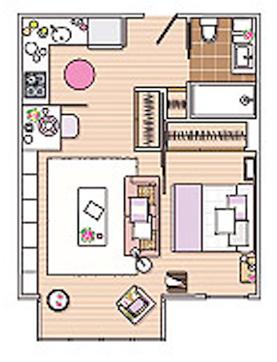 C mo dise ar un apartamento c modo de 40 metros cuadrados for Como decorar un piso de 40 metros cuadrados