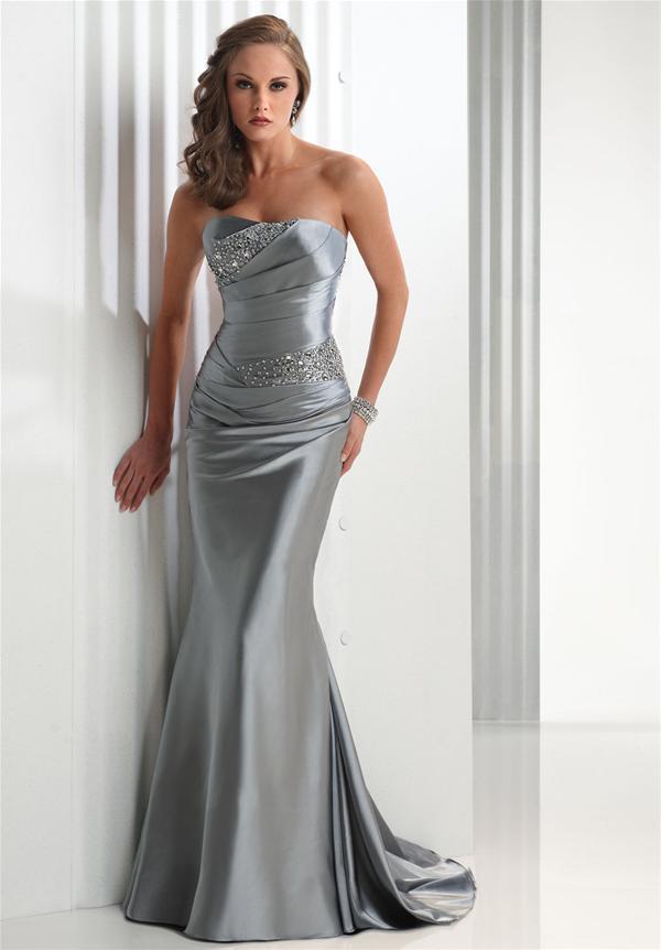 Vestidos de fiesta gris acero
