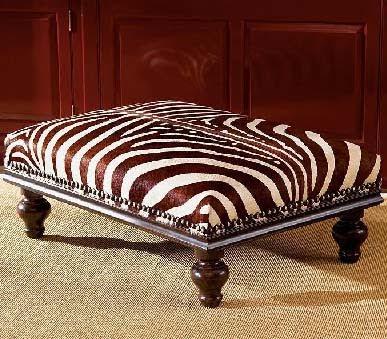 Dose Of Design Love It Zebra Ottoman