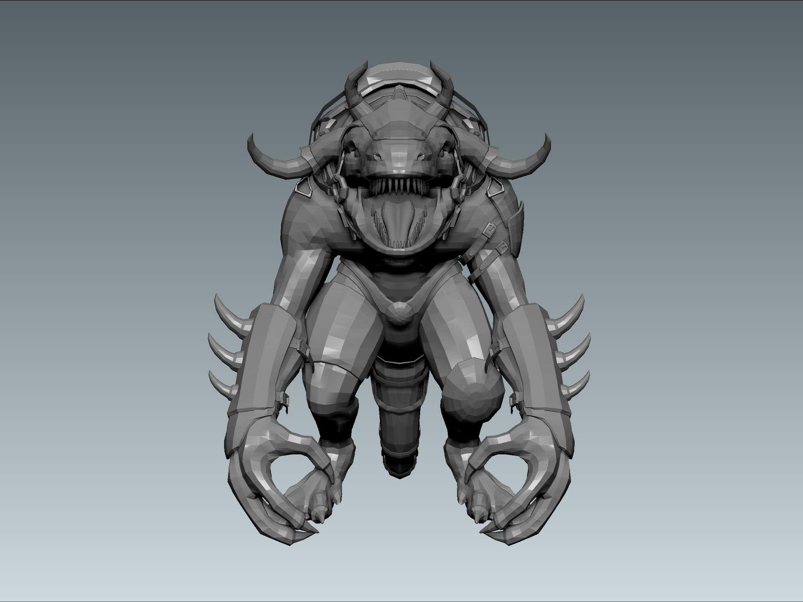 huan phan Dragon Viking Low Res Maya Model