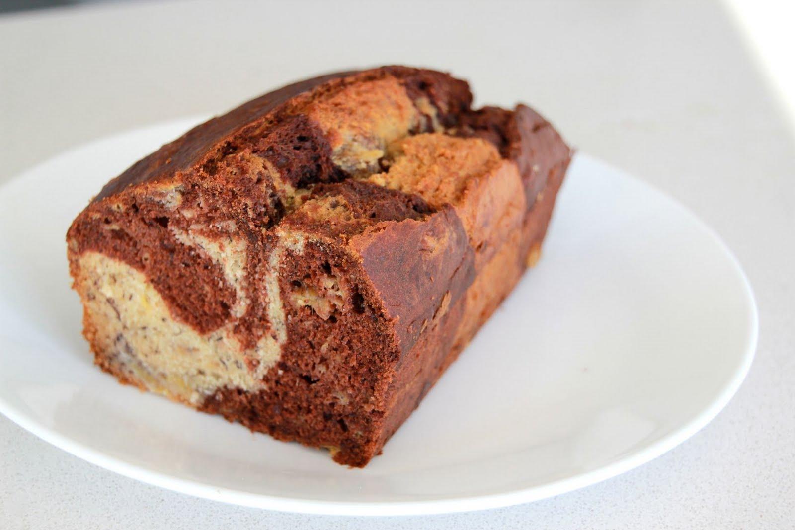 Green Cilantro: Chocolate-Banana Marble Bread