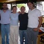 Con los compañeros Quito y Nahuel