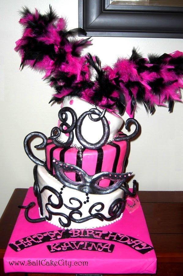 Salt Cake City Pink Black And Silver Masquerade