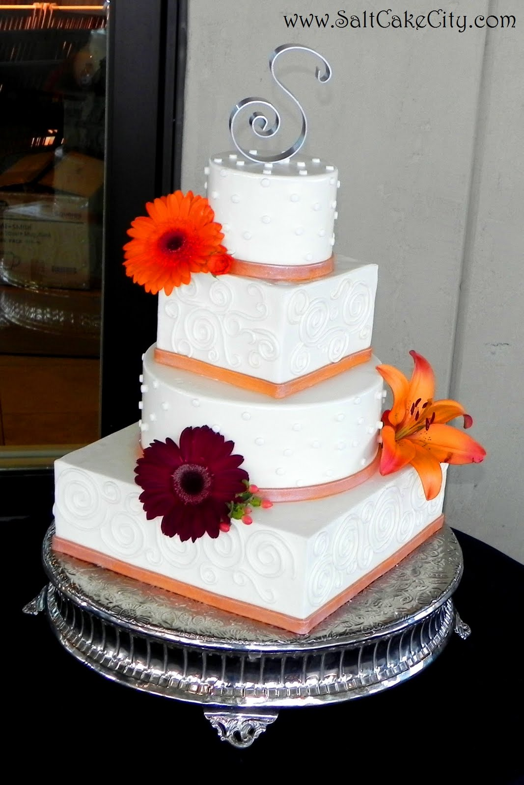 Purple And Orange Wedding Cakes Viewing Gallery