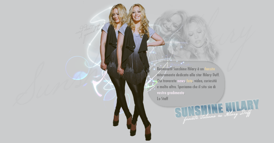 Sunshine Hilary - fansite italiano su Hilary Duff