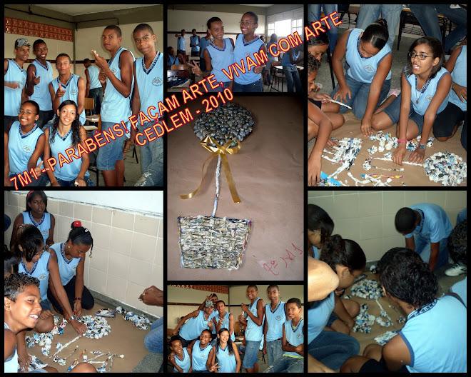 ALUNOS DO CEDLEM EM ATIVIDADE DE ARTE - 2010