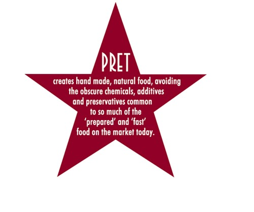 pret a manger brand positioning Pret a manger is a grab-and-go sandwich concept exported from the uk the international concept is designed like an old-time automat—prepackaged foods are displayed in.