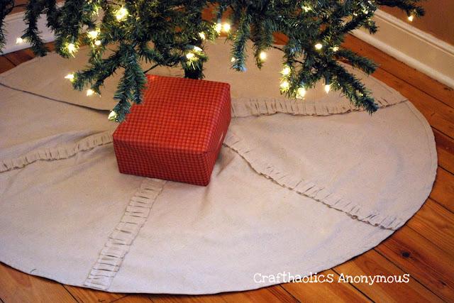 drop cloth christmas tree skirt