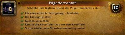 pilgerfreuden erfolg achievement guide pilgerfortschritt