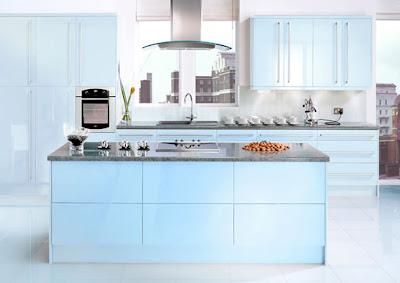 Beautiful Blue Sky Kitchen