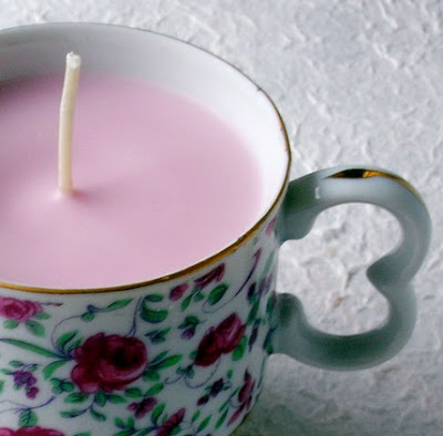 soy teacup candles
