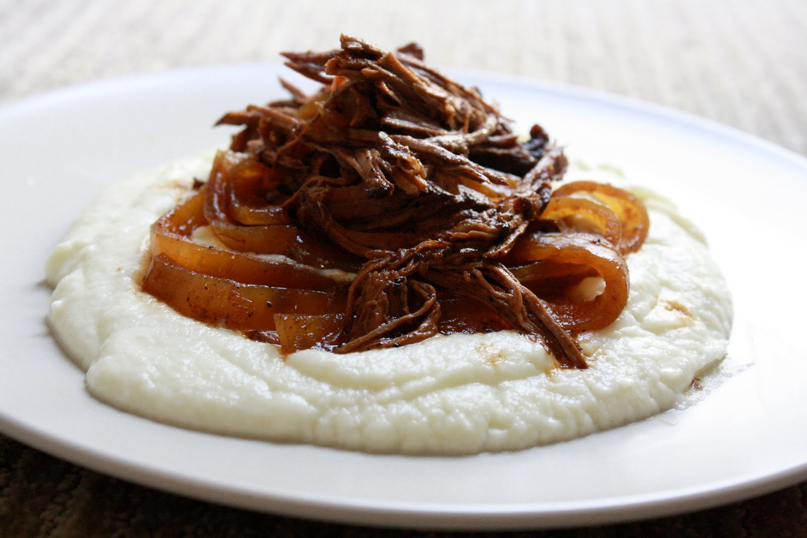Balsamic And Onion Pot Roast Recipe — Dishmaps