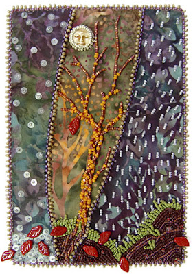 bead embroidery by Robin Atkins, bead journal project, november 07
