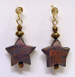 earrings by Robin Atkins, bead artist