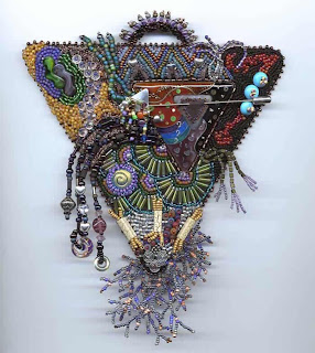 Bead embroidery and cloisonne by Karen Cohen