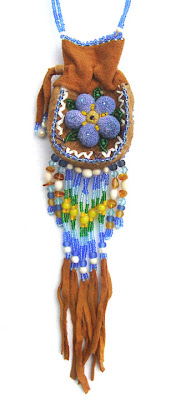 Native Alaskan beaded amulet bag, collection of Robin Atkins