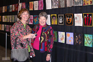 Susan and Phyllis, at the Chicago Quilt Festival, 2007